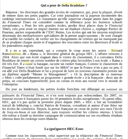 Pages from the book Grandes Ecoles - La Fin d'une Exception Francaise
