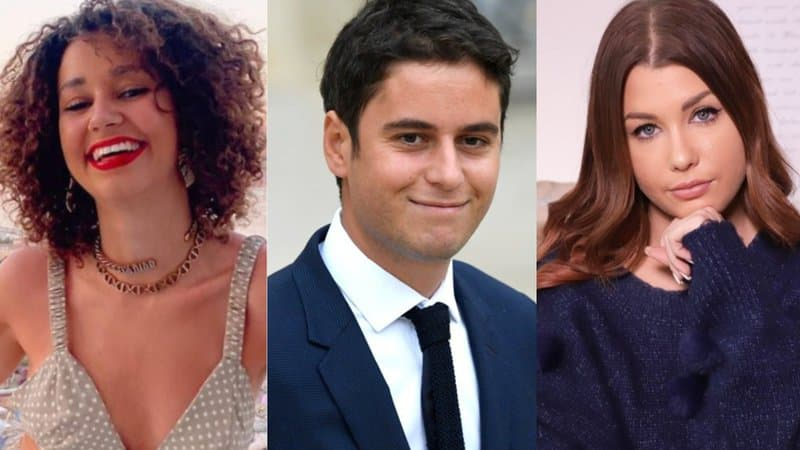 """LaRem (La République en Marche) Spokesperson Gabriel Attal with Food and Beauty YouTuber """"EnjoyPhoenix"""" and YouTube Vlogger """"Léna Situations"""" to discuss the sanitary crisis/pandemic to the French public."""