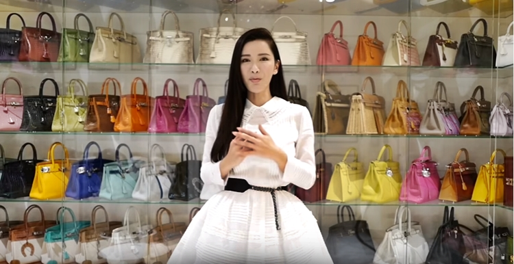 Jamie Chua and her Hermes bags collection
